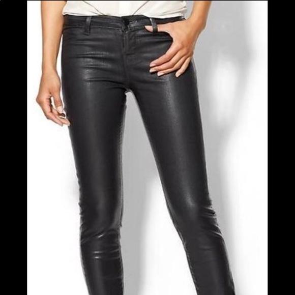 Women s Pacsun coated black jeans skinny 14723df0e